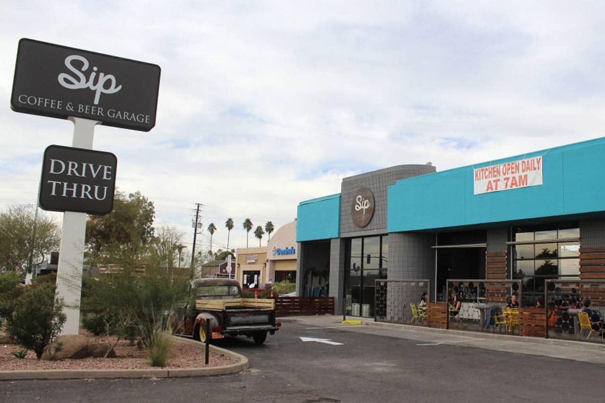 Sip-coffee-and-beer-garage-phoenix-arizona-outdoor-store-view-2